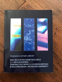McMaster textbook. Pearson Custom Library. In great condition. Vaughan, L4L 8C4