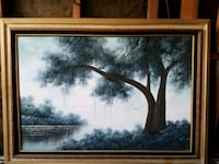 brown wooden framed painting of trees Ontario, 91762