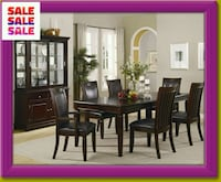rectangular brown wooden table with four chairs dining set Spring, 77388