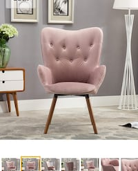 2 Mauve/pink accent chairs 48 km