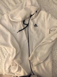 Adidas White Zip Up Sweater Oshawa