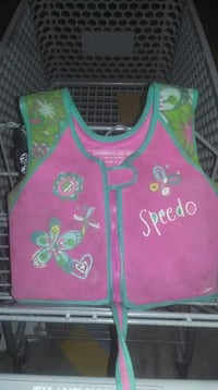 toddler's pink and blue floral speedo-printed vest