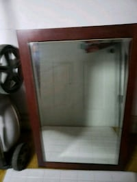 Cherry Wood Framed Mirror Cabinet