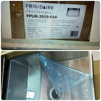 stainless steel Frigidaire sink collage