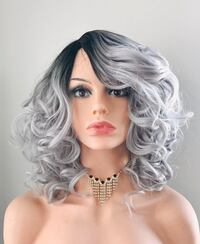 Fun & Classy Ombre Grey Wig for Everyday  Calgary, T2P