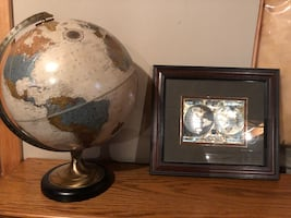 Globe and matching picture