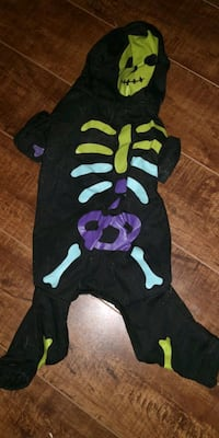 skeleton dog onesie