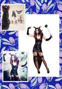 "DREAMGIRL* brand ""QUEEN OF DARKNESS!"" Sexy villain queen women's costume size S/M- NEW! 1158 mi"