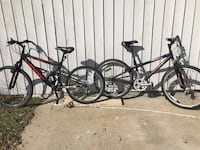 black and red hard tail bikes