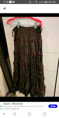 New Long silk skirt med