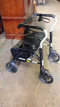 Black and gray rollator