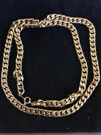 Gold Plated Cuban Link Necklace
