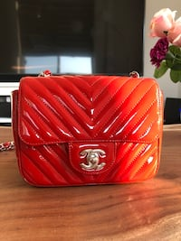 Chanel chevron mini square patent leather Toronto