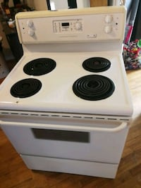 white and black electric coil range oven Montréal, H1G