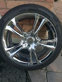 17 inch 4 Bolt Chrome Rims with Tires