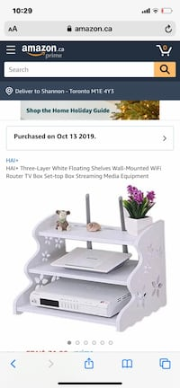 White 3 tier floating shelf