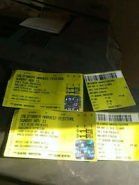 two yellow and blue tickets 2268 mi