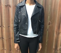 Faux Leather Biker Jacket  size Small, NEW with tags 44 km