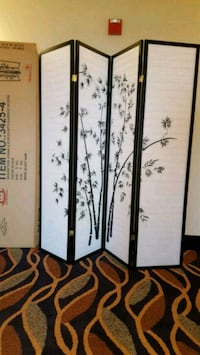 Brand New 4 Panel Room Divider  Silver Spring