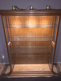 Display case with glass shelves. $75 Las Vegas, 89148