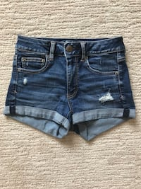 Ladies American Eagle Hi Rise Shortie Shorts Size 4 London, N6G