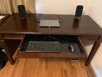 Large computer desk with large computer tray Arlington