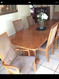 brown wooden dining table set Moreno Valley, 92557