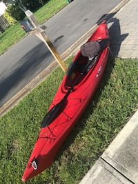 Red and black kayak with paddle Melbourne Beach, 32951