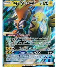 Pokemon Tapu Koko trading card Mount Holly, 28120