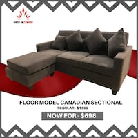 canadian made floor model sectional  on sale  Brampton