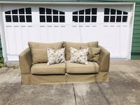 Pottery Barn Style Khaki Canvas Couch