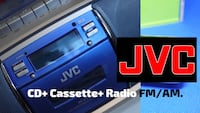 JVC RC-ST3 CD Boombox (Silver and Blue). Maplewood