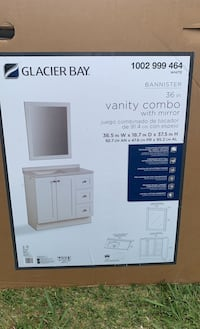 Glacier Bay 36 in vanity and mirror combo(never opened)