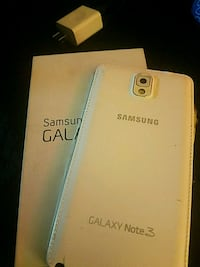 white Samsung Galaxy Note 3 with box