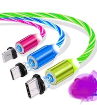 Magneitc 3 in 1 Charger Cord LED Flowing Magnetic Charger Cable Light  Victoria, V9B