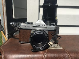 Vintage Pentax camera, leather case, and all accessories.  $180.00 OBO