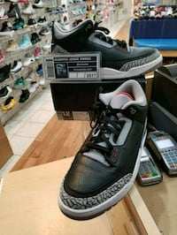 Air Jordan 3 Black Cements Size 12 Wheaton-Glenmont, 20902