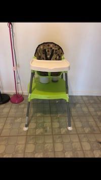 baby's white and green high chair Rockville, 20850