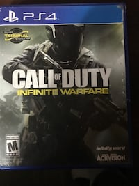 Call of Duty Infinite Warfare PS4 game case Trent Hills, K0K