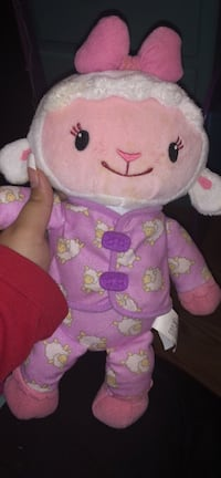 pink and white bear plush toy Dover, 19901