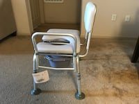 Baby's blue and white highchair