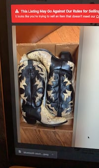 Genuine snakeskin & leather cowboy boots