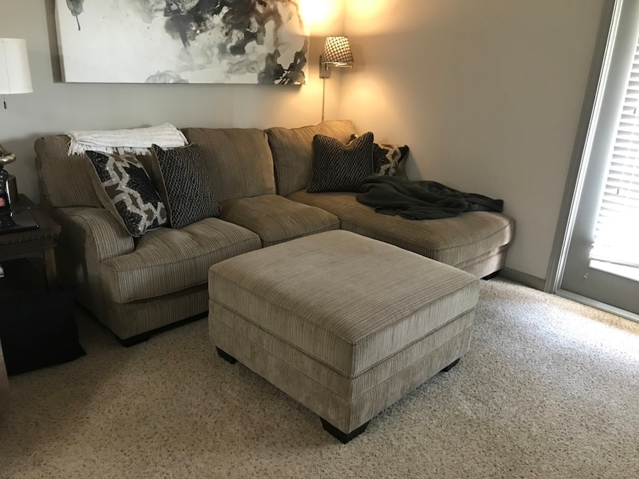 Katisha By Ashley Furniture Sectional And Ottoman In Alpharetta Letgo