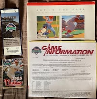 Phillies Art in the Park Booklet and Game Ticket