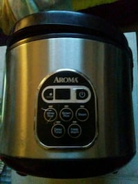 gray and black Aroma rice cooker 3153 km