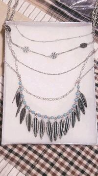Multi Layered Silver Statement Necklace  North York, M3K 2C1