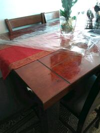 Dining table with 6 leather chairs Toronto, M1E 2S2