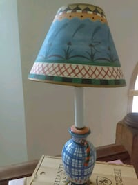 white and blue table lamp East Rochester, 14445