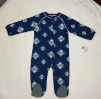 NEW WITH TAG *** WE SHIP/DELIVER*** MLB Newborn Rays Sleepwear All Over Print Zip Up Coverall, 6-9 Months, Athletic Navy 2274 mi
