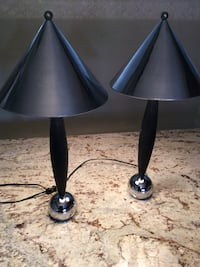 two black-and-gray table lamps Niagara Falls, L2G 2C6